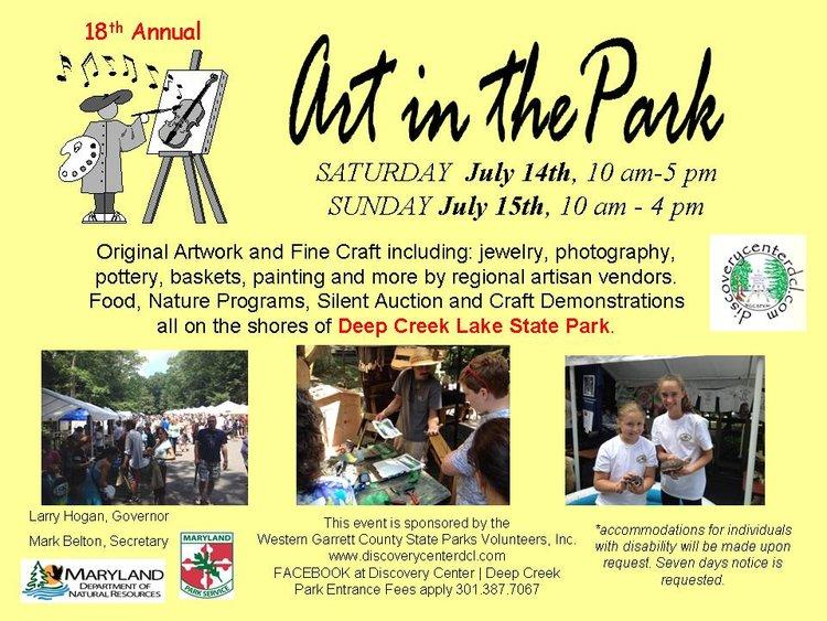 18th Annual Art in the Park, Deep Creek Discovery Center
