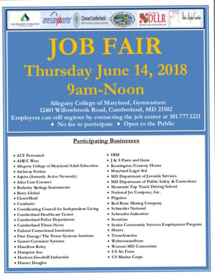 Job Fair at Allegany College of MD