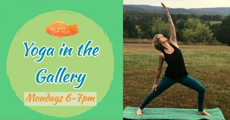 Yoga in the Gallery at The River House, Capon Bridge, WV