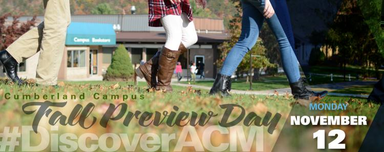 Allegany College of MD Fall Preview Day at Cumberland campus, November 12
