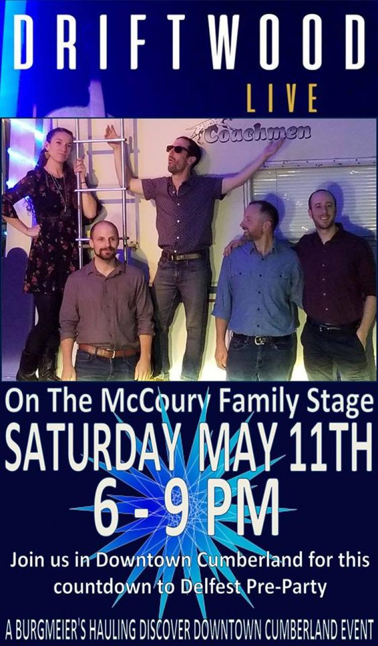 Driftwood LIVE on The McCoury Family Stage, Downtown Cumberland
