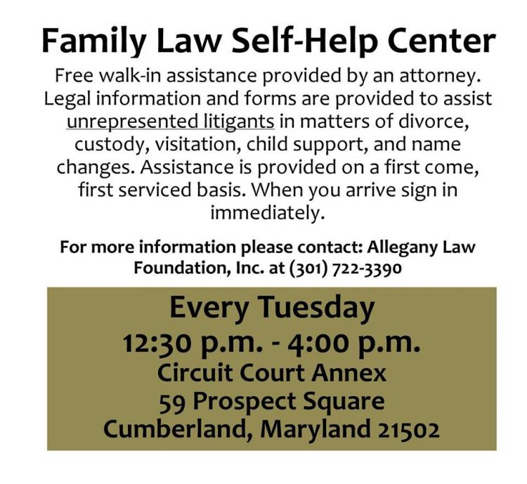 Family Law Self-Help Center, Circuit Court Annex, Cumberland