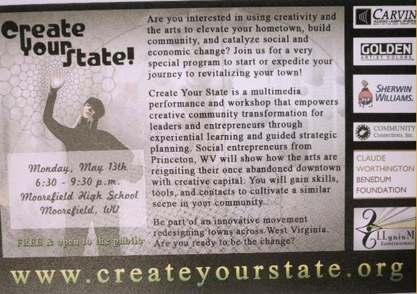 Create Your State! Workshop at Moorefield High School