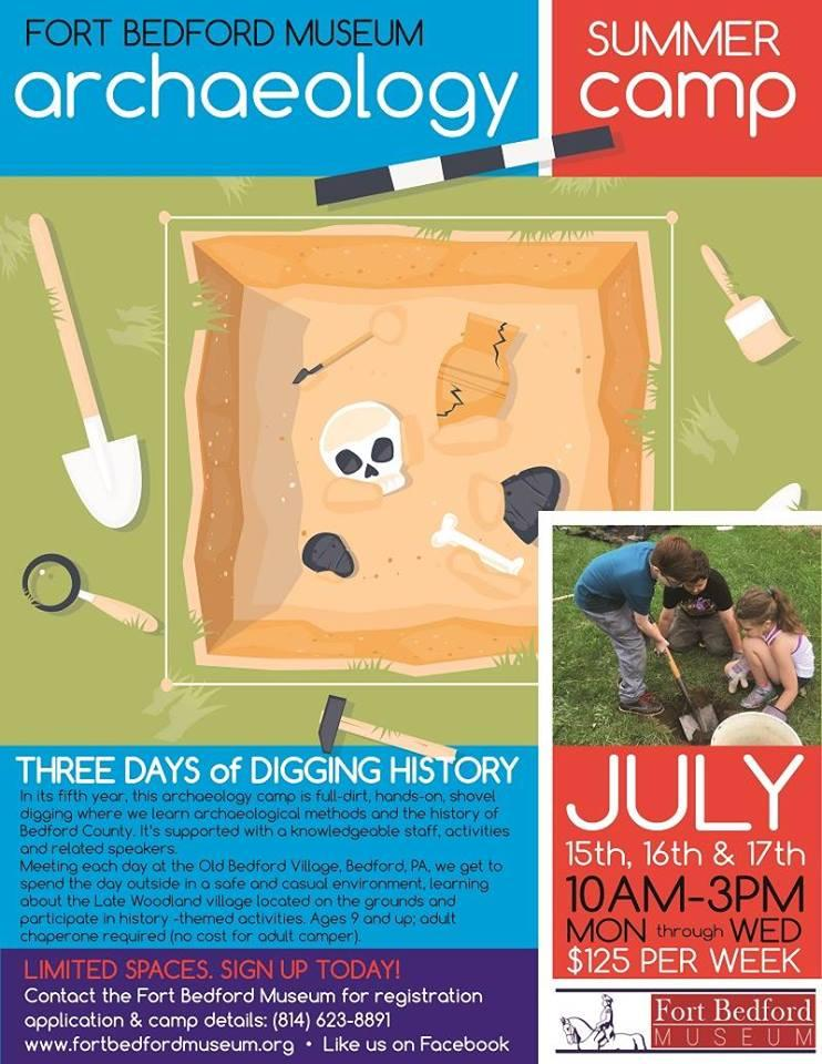 Archaeology Camp at Fort Bedford Museum