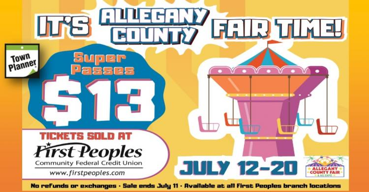 Get Your Allegany Co. Fair Superpass at First Peoples