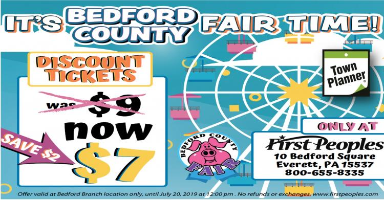 Bedford Count Fair Tickets only $7 at First Peoples