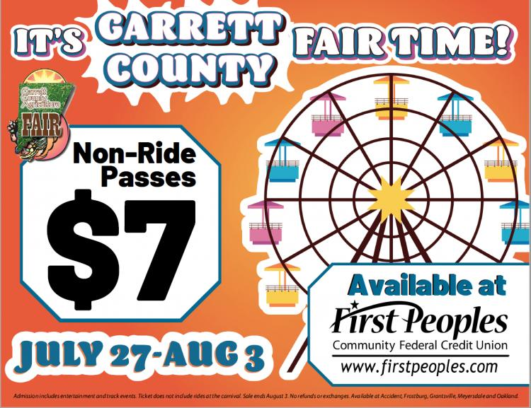Garrett County Fair Pass Only $7 at First Peoples