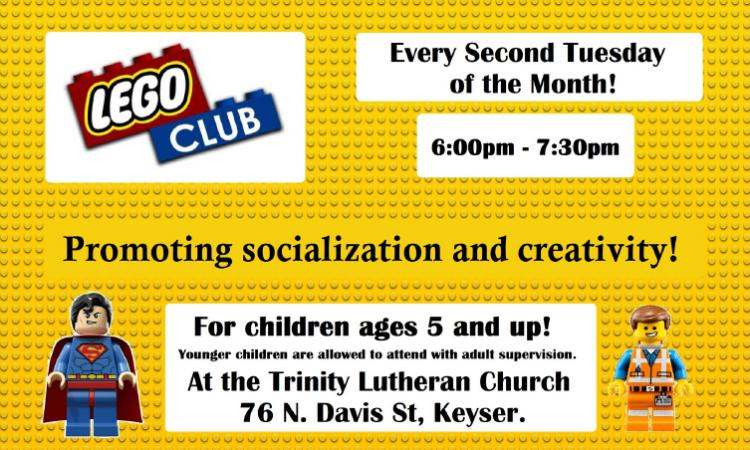 Lego Club, Trinity Lutheran Church, Keyser