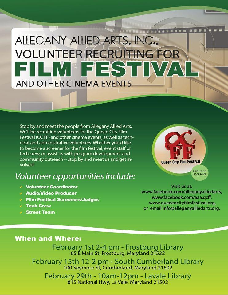 Allegany Allied Arts Volunteer Recruiting Meet-&-Greet