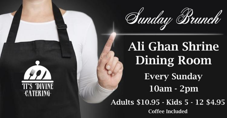 Weekly Brunch Buffet - Hosted by Ali Ghan Shriners