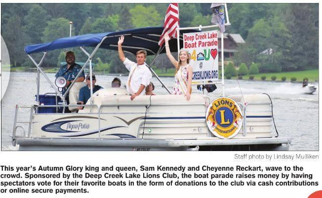 The Deep Creek Lake Lion's Club Boat Parade