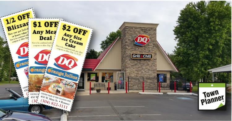 Save a Buck!  Romney DQ Open for patio dining, drive-thru & take out