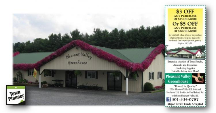 Pleasant Valley Greenhouse Open Mon-Sat, closed Sunday