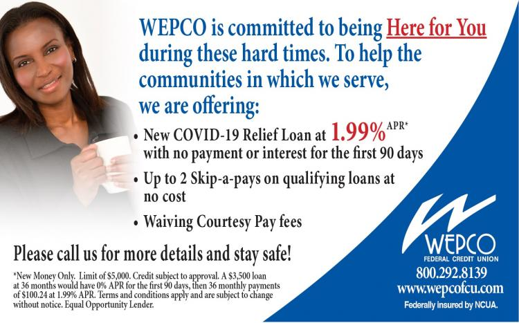 WEPCO offering Covid-19 Relief Loan