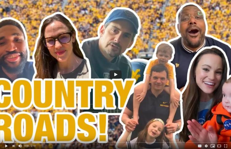Country Roads video with Brad Paisely, Jennifer Garner and more!