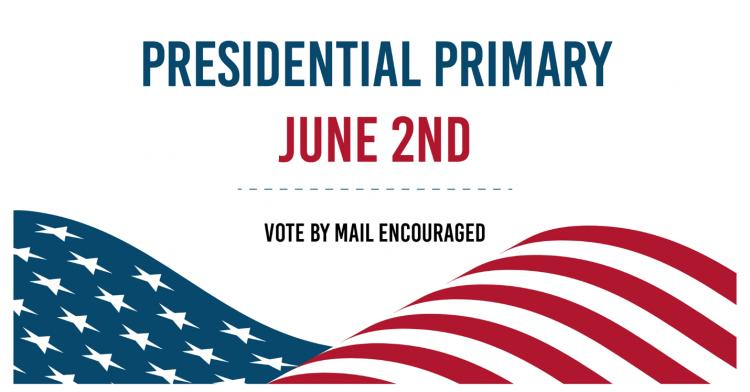 The Presidential Primary Election will be held on June 2,