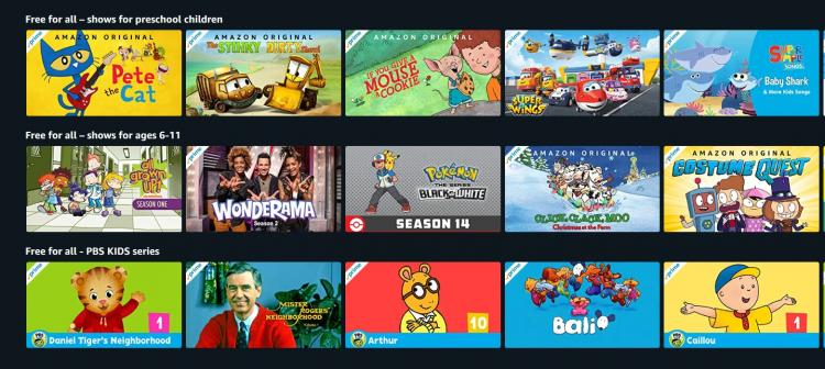 Kids TV Shows FREE from Amazon