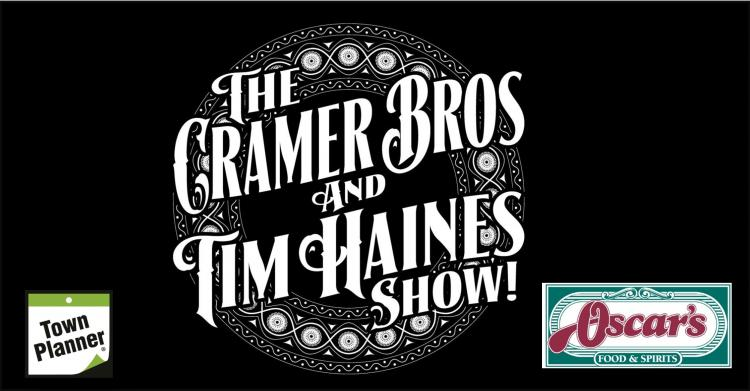 Cramers Bros with Tim Haines on the patio at Oscar's Restaurant