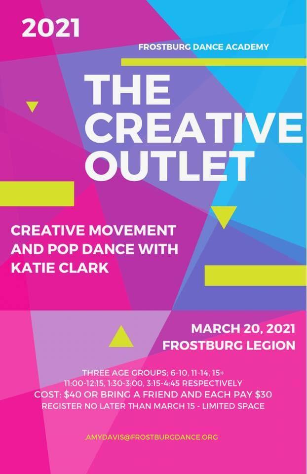 Frostburg Dance Academy's The Creative Outlet, March 20
