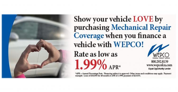Show your vehicle some Love at WEPCO