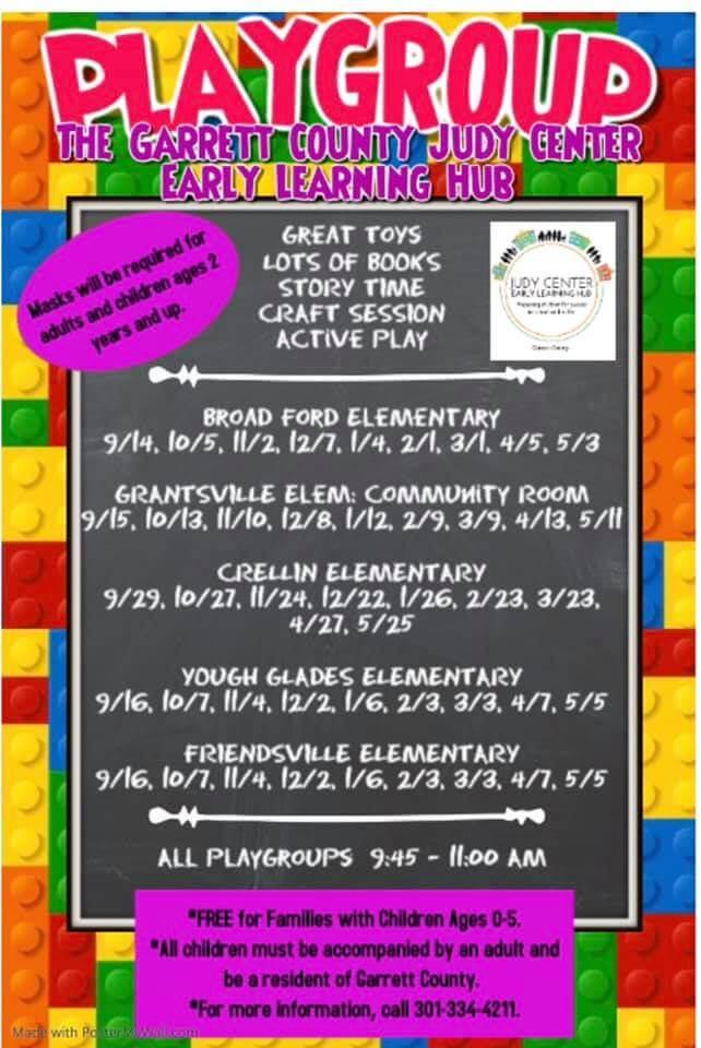 Playgroup: The Garrett County Judy Center Early Learning Hub, Crellin Elementary