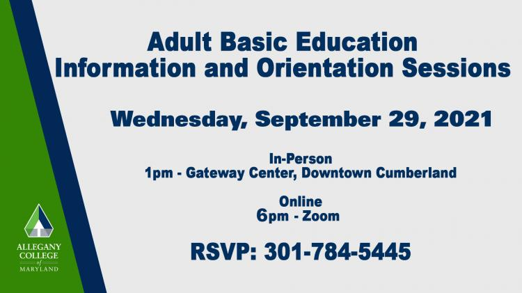 Adult Basic Education - Information and Orientation Session