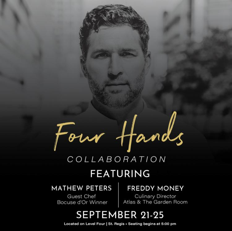 Four Hands – Join Chef Freddy Money + Chef Mathew Peters for 5 Nights at Atlas