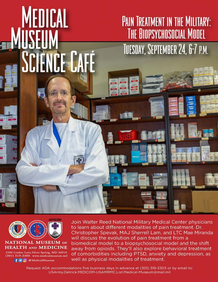 Medical Museum Science Café: Pain Treatment in the Military—The Biopsychosoci