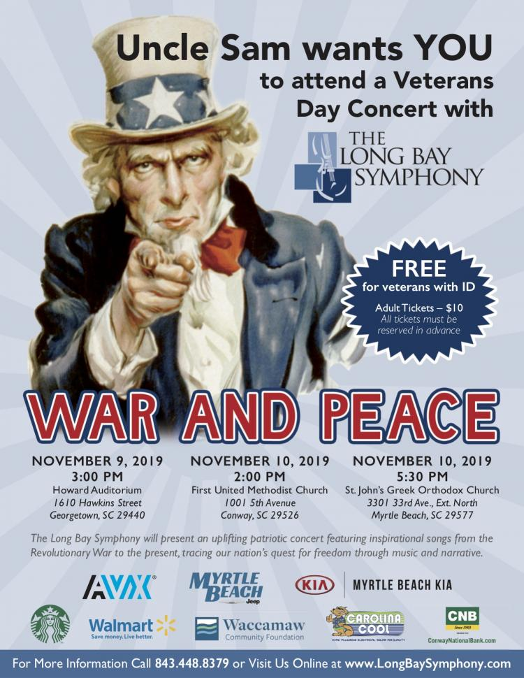 Long Bay Symphony-War and Peace (Georgetown)