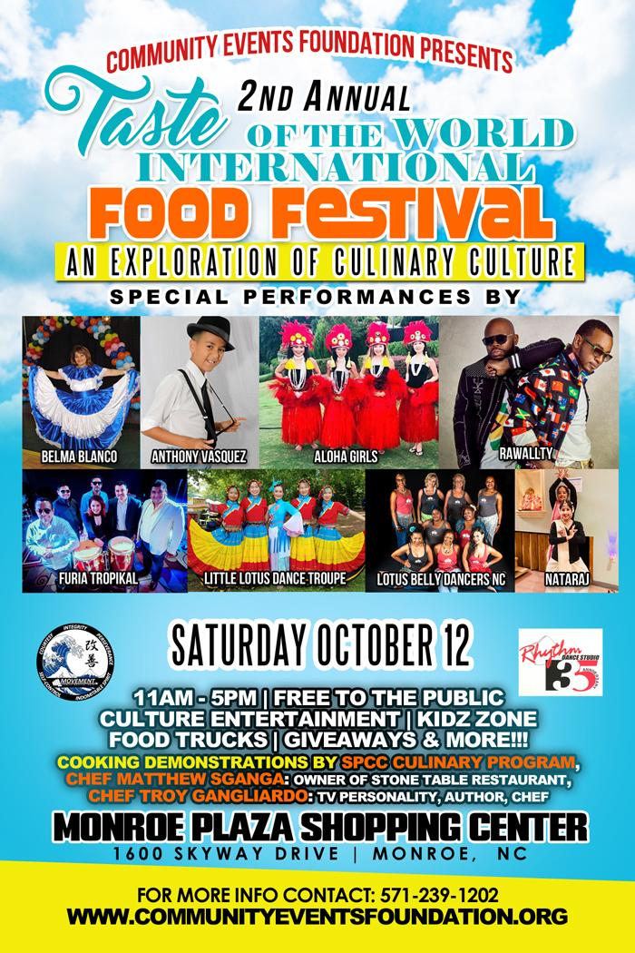 2nd Annual Taste of The World International Food Festival
