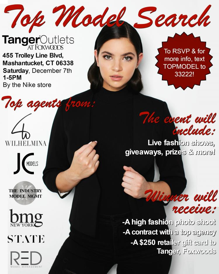 Top Model Search at Tanger Outlets in Foxwoods