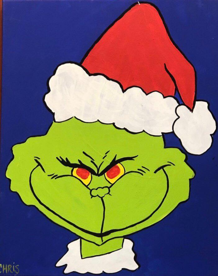 Grinch-mas N Canvases (all ages)