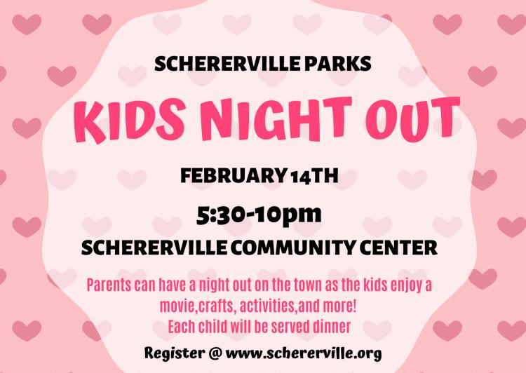 KIDS NIGHT OUT— Valentine's Day (Ages 4-10)